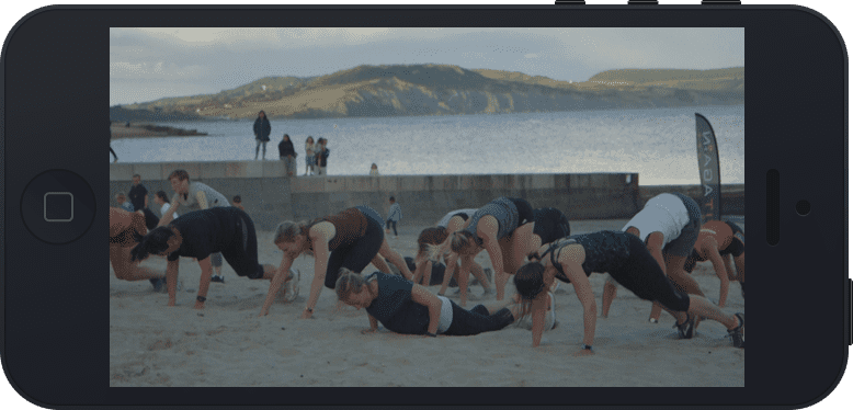 photo of lyme regis beach bootcamp